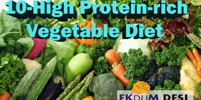 10-High Protein-rich Vegetable Diet